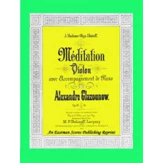 Glazunov, Aleksandr Konstantinovich : Meditation for violin and piano