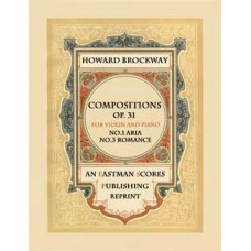 Brockway, Howard : Compositions, for violin and piano. Op. 31., no 1, 3