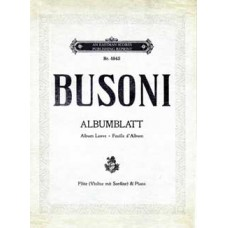 Busoni, Ferruccio : Album... for Flute or Violine and Piano