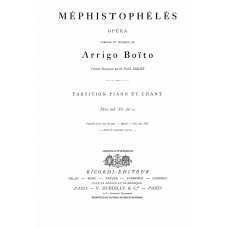 Boito, Arrigo :  ; opera, version Francaise de M. Paul Milliet. Partition piano et chant.