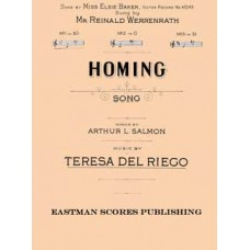 Riego, Teresa del : Homing : song : no. 1 in Bb / words by Arthur L. Salmon