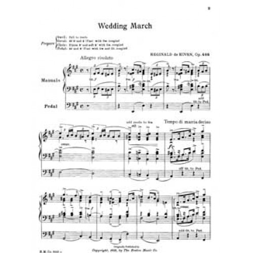The Wedding March Song: DeKoven Wedding March Sheet Music Eastman Scores Library